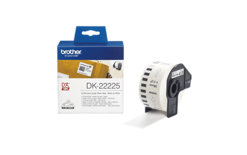 Brother DK-22225 White Continuous Paper Tape 38mm