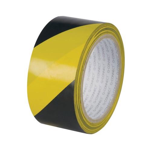 Black & Yellow Hazard Warning Tape