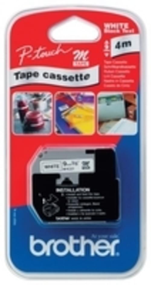 Brother MK-231 Tape 12mm Black/White MK231BZ