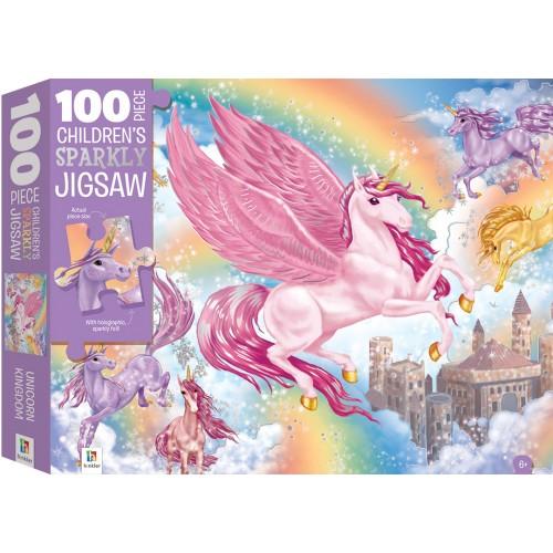 100 Piece Children's Sparkly Unicorn Jigsaw