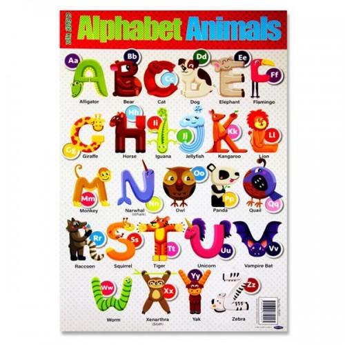 Clever Kidz Wall Chart - Animal Alphabet