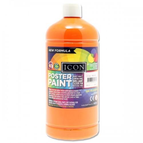 Icon Art 1 Litre Poster Paint - Orange