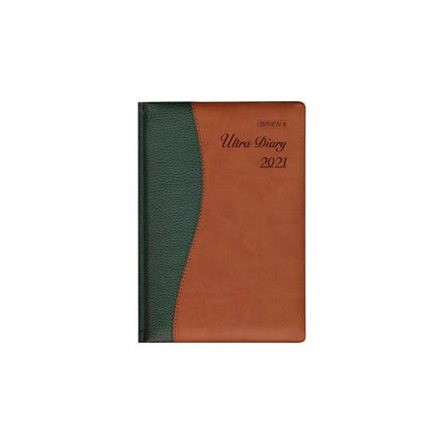 O'Briens A5 Ultra Deluxe Executive Day/Page Diary 2021