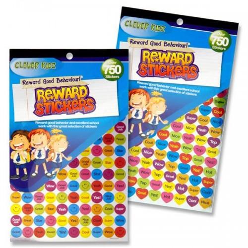 Clever Kidz 750+ Reward Stickers 2 Asst.