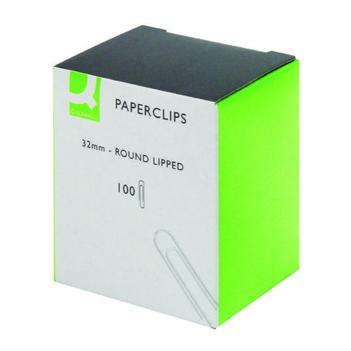 Q-Connect Paperclips Lipped 32mm