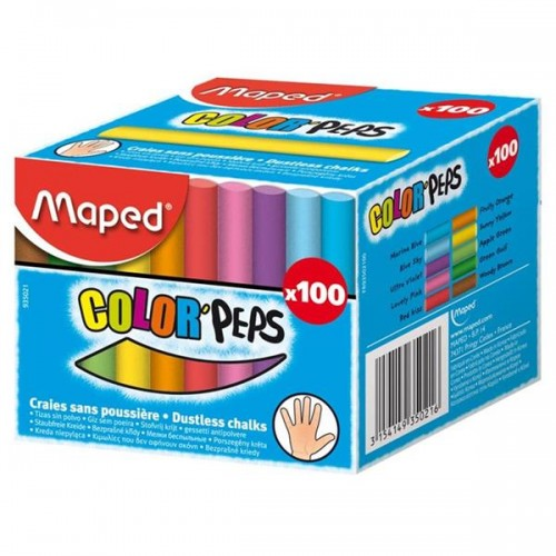 Maped Box 100 Chalk - Color'peps