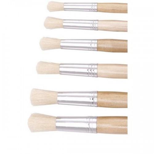 Hog Bristle Round Tip Size 8 Paint Brush