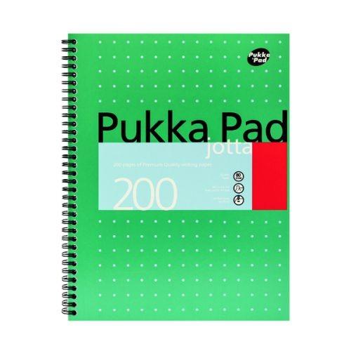 Pukka Pad Ruled Wirebound Metallic Jotta Notebook 200 Pages A4