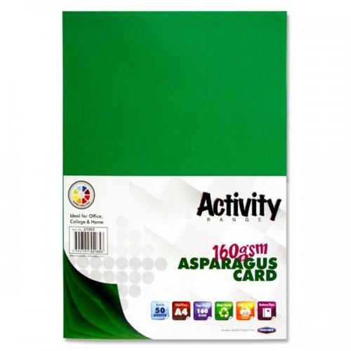 Premier Activity A4 160gsm Card 50 Sheets - Asparagus