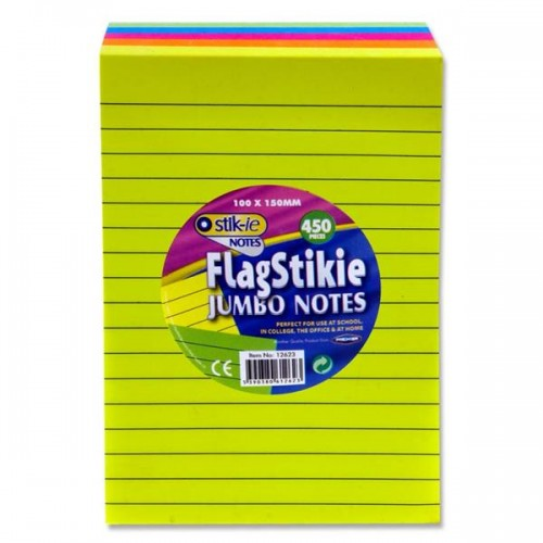 Stik-ie Block.450 Flag Stikie Jumbo Notes