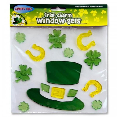 Irish Charm Window Gel Sticker - Lucky Hat