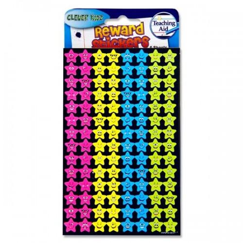 Reward Stickers - Smiling Stars