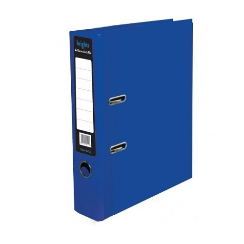 A4 Pukka Brights Navy Blue Leverarch File Pk10