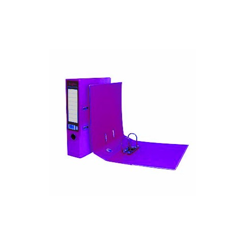 A4 Pukka Brights Purple Leverarch File Pk10