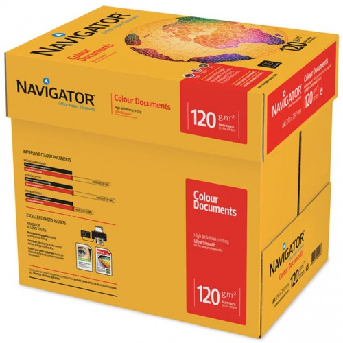 A4 Navigator Colour Documents Paper Ultra Smooth 120gsm BX2000