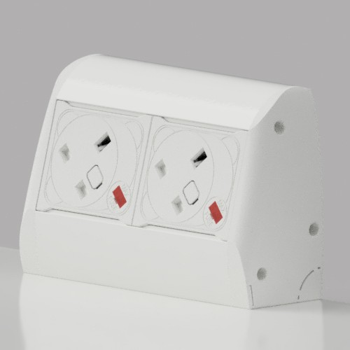 Pearl On-Surface 2 x UK FUSED Socket Power Module