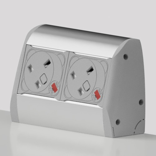 Poco Surface Mounted 2 x UK FUSED Sockets Power Module