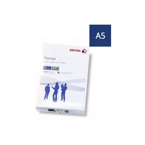Xerox Premier A5 Copier Paper 80gsm Pack 500 Sheets Box of 10 Packs