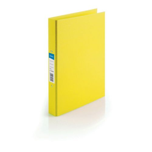 Initiative Polypropylene Coated Board 2 Ring Binder 25mm Capacity A4 Yellow