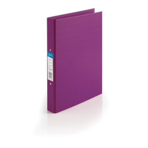 Initiative Polypropylene Coated Board 2 Ring Binder 25mm Capacity A4 Purple