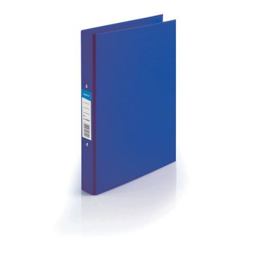 Initiative Polypropylene Coated Board 2 Ring Binder 25mm Capacity A4 Blue