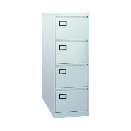 39158 Executive Lockable 4 Drawer Filing Cabinet in Light Grey