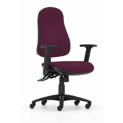 Gresford 90 Ergonomic Chair in Amethyst Purple Vita Vinyl with Height Adjustable Arms