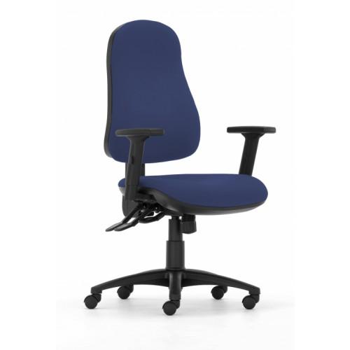 Gresford 90 Ergonomic Chair in Navy Marina Vita Vinyl with Height Adjustable Arms