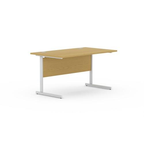 Aspen 800mm Wide Rectangular Desk in Light Oak