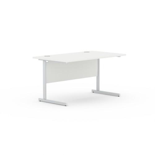 Aspen 1600mm Wide Rectangular Desk in White