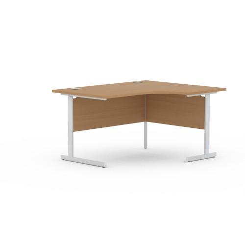 Aspen 1400mm Wide Right Hand Radial Desk In Beech