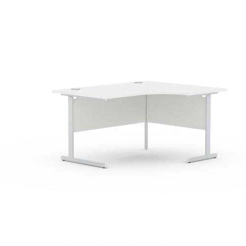 Aspen 1400mm Wide Right Hand Radial Desk In White