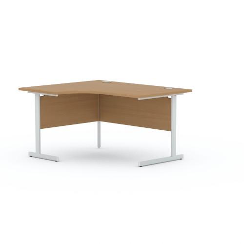 Aspen 1400mm Wide Left Hand Radial Desk In Beech