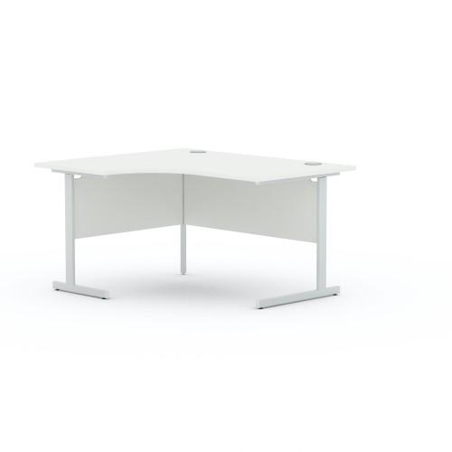 Aspen 1600mm Wide Left Hand Radial Desk In White