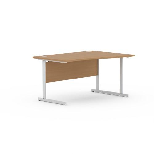 Aspen 1400mm Wide Right Hand Wave Desk In Beech