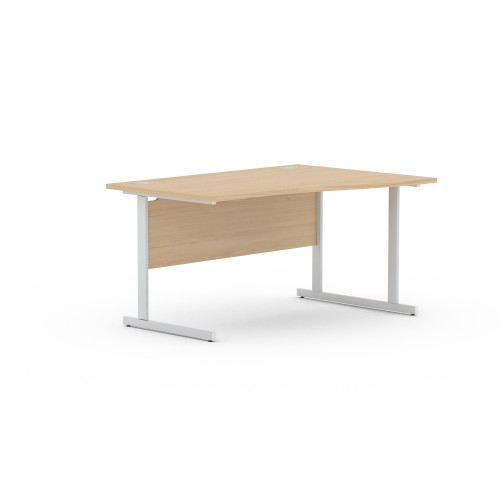 Aspen 1400mm Wide Right Hand Wave Desk In Maple