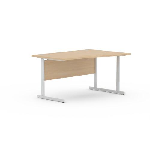 Aspen 1600mm Wide Right Hand Wave Desk In Maple
