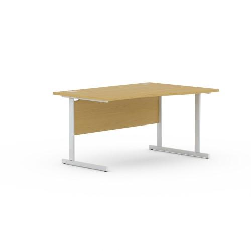 Aspen 1400mm Wide Right Hand Wave Desk In Light Oak