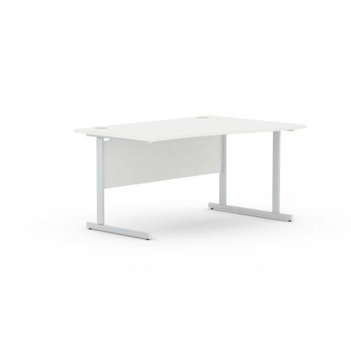 Aspen 1800mm Wide Right Hand Wave Desk In White