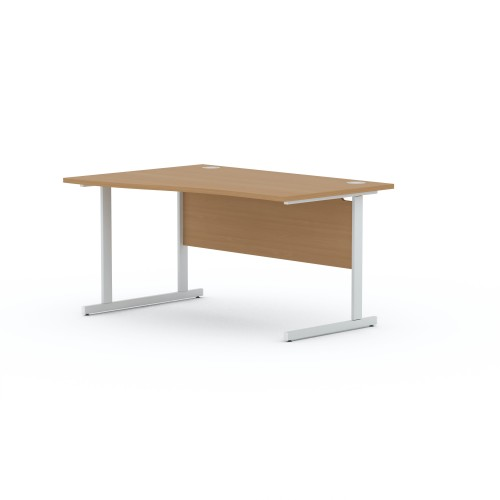 Aspen 1800mm Wide Left Hand Wave Desk In Beech