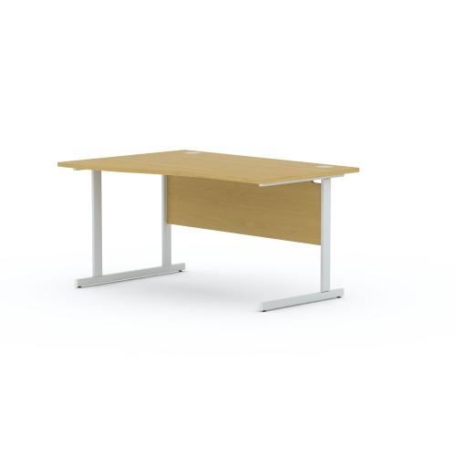 Aspen 1600mm Wide Left Hand Wave Desk In Light Oak