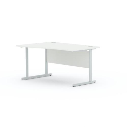 Aspen 1400mm Wide Left Hand Wave Desk In White