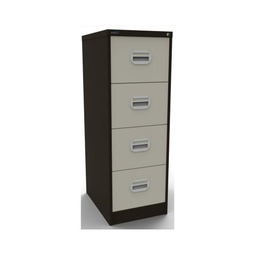 Kontrax Lockable 4 Drawer Filing Cabinet in Brown/Beige