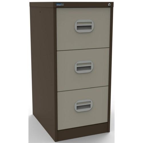 Kontrax Lockable 3 Drawer Filing Cabinet in Brown/Beige