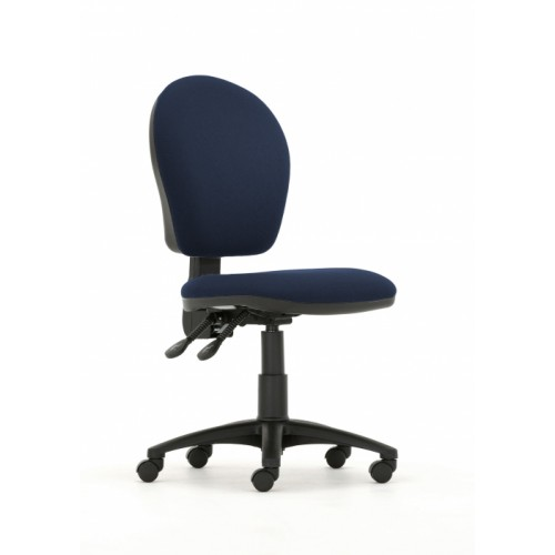 Curve High Back Operators Chair in Navy Marina Vita Vinyl with No Arms
