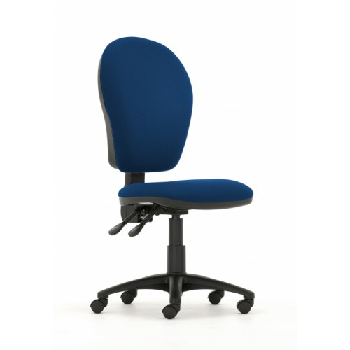 Curve Xtra High Back Operators Chair with Synchronised Mechanism in Hobbit Blue Fabric with No Arms