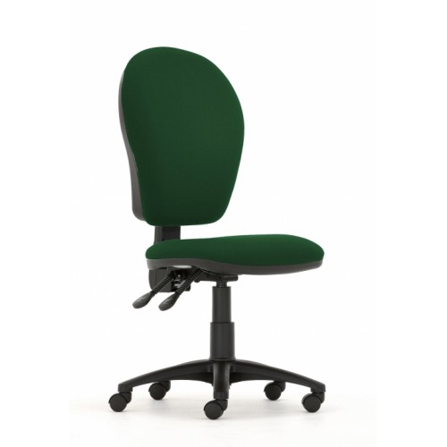 Curve Xtra High Back Operators Chair with Independent Mechanism in Aztec Green Fabric with No Arms