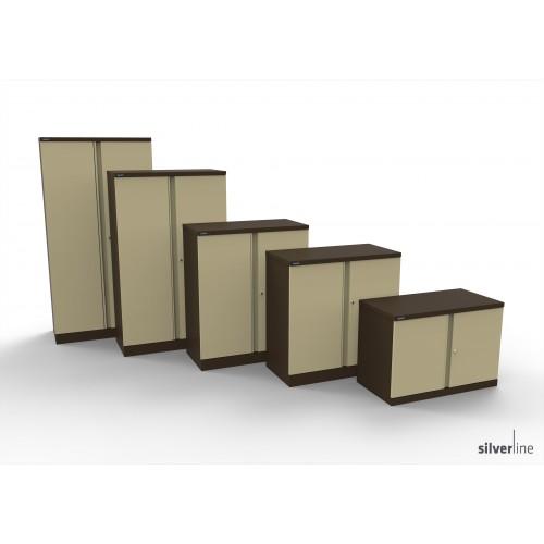 Executive Double Door Cupboard 1020mm High in Brown/Beige
