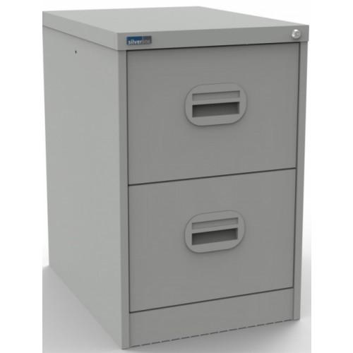 Kontrax Lockable 2 Drawer Filing Cabinet in Light Grey