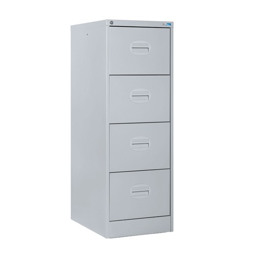 Kontrax Lockable 4 Drawer Filing Cabinet in Silver